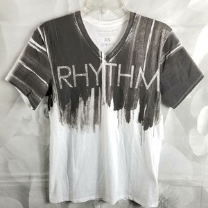 Calvin Klein Rhythm Graphic V-Neck T-Shirt